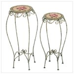 Metal Rose Tables Plant Stands