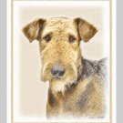 6 Airedale Terrier Note or Greeting Cards