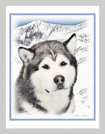 6 Alaskan Malamute Note or Greeting Cards