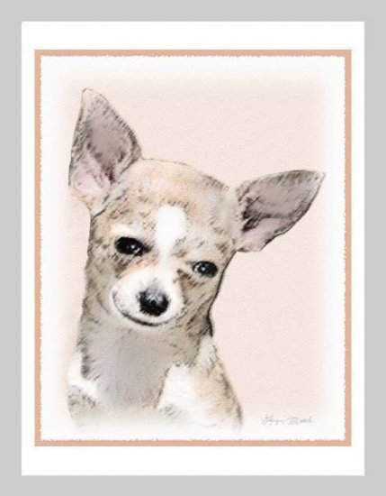 6 Chihuahua Note or Greeting Cards