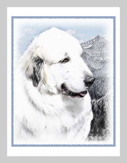 6 Great Pyrenees Note or Greeting Cards