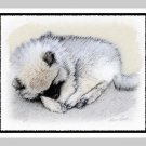 "6 Keeshond Note or Greeting Cards """"Sleeping Puppy"""""