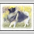 "6 Keeshond Note or Greeting Cards """"Stroll in the Aspen"""""