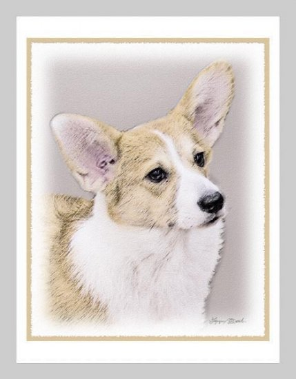 6 Welsh Corgi Note or Greeting Cards