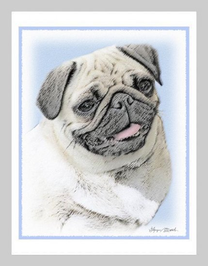 6 Pug Note or Greeting Cards