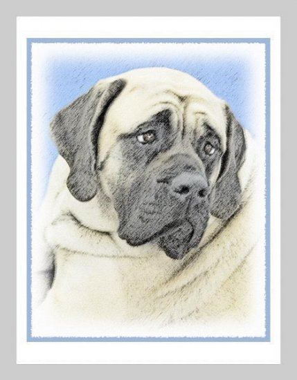 6 Bullmastiff Note or Greeting Cards