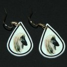 Afghan Hound Dog Earrings Jewelry Handmade