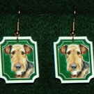 Airedale Terrier Jewelry Earrings Handmade