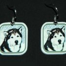 Alaskan Malamute Earrings Jewelry Handmade