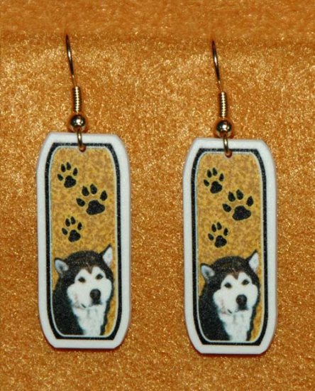 Alaskan Malamute Jewelry Earrings Handmade