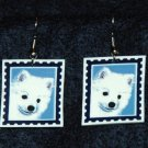 American Eskimo Puppy Dog Jewelry Earrings Handmade