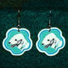 Bedlington Terrier Dog Jewelry Earrings Handmade