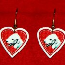 Bedlington Terrier Heart Valentine Earrings Jewelry