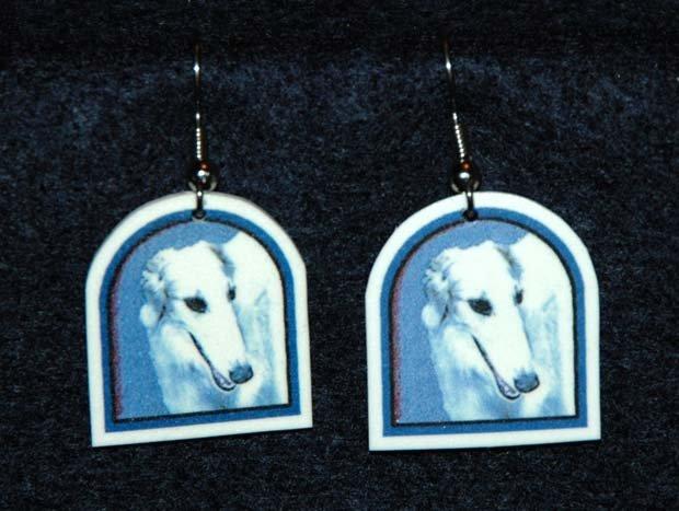 Borzoi Russian Wolfhound Dog Jewelry Earrings Handmade