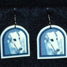 Borzoi Russian Wolfhound Dog Jewelry Earrings Handmade