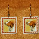 Brittany Spaniel Jewelry Earrings Handmade