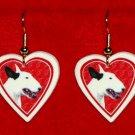 Bull Terrier Dog Heart Earrings Jewelry Handmade