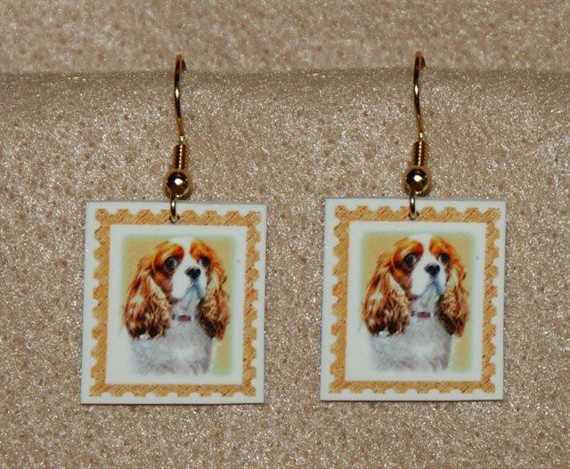 Cavalier King Charles Spaniel Jewelry Earrings Handmade