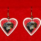 Chesapeake Bay Retriever Dog Heart Earrings Jewelry