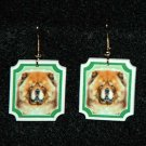 Chow Chow Dog Earrings Jewelry Handmade