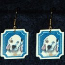 Clumber Spaniel Puppy Jewelry Earrings Handmade