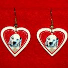 Clumber Spaniel Puppy Heart Valentine Jewelry Earrings Handmade