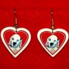 Clumber Spaniel Puppy Heart Valentine Jewelry Earrings Handmade