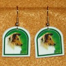 Collie Dog Jewelry Earrings Handmade