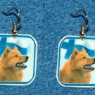 Finnish Spitz Dog Finland Flag Earrings Jewelry