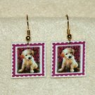 Golden Retriever Puppy Jewelry Earrings Handmade