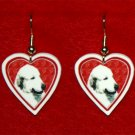 Great Pyrenees Heart Valentine Earrings Jewelry