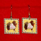 Keeshond Christmas Gingerbread Earrings Jewelry