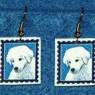 Kuvasz Puppy Dog Earrings Jewelry Handmade