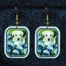 Lab Yellow Labrador Puppy Earrings Handmade