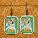 Lab Yellow Labrador Earrings Handmade