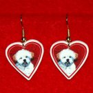 Lhasa Apso Puppy Heart Jewelry Earrings Handmade