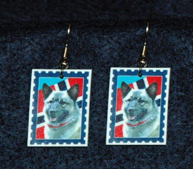 Norwegian Elkhound Norway Flag Earrings Jewelry