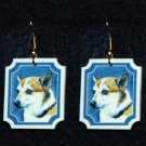 Norwegian Lundehund Jewelry Earrings Handmade