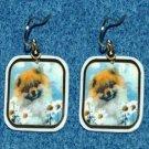 Pomeranian Pom Earrings Jewelry Handmade