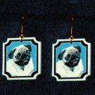 Pug Dog Jewelry Earrings Handmade