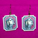 Saluki Dog Jewelry Earrings Handmade