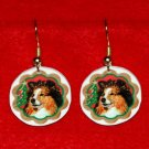Sheltie Shetland Sheepdog Christmas Earrings Jewelry