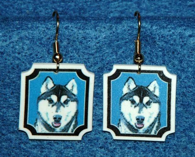 Siberian Husky Jewelry Earrings Handmade