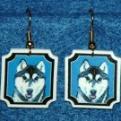 Siberian Husky Jewelry Earrings Handmade