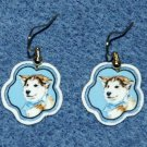 Siberian Husky Puppy Dog Earrings Jewelry Handmade