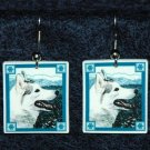 Siberian Husky Snowflake Earrings Jewelry Handmade