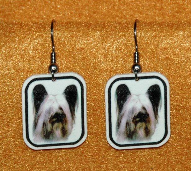Skye Terrier Earrings Jewelry Handmade