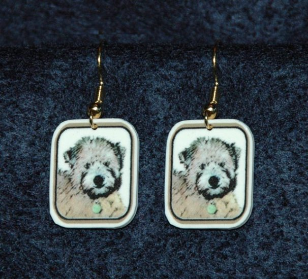 Soft Coated Wheaten Terrier Puppy Earrings Handmade