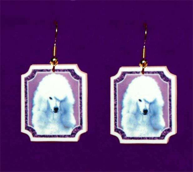 Standard Poodle Dog Jewelry Earrings Handmade