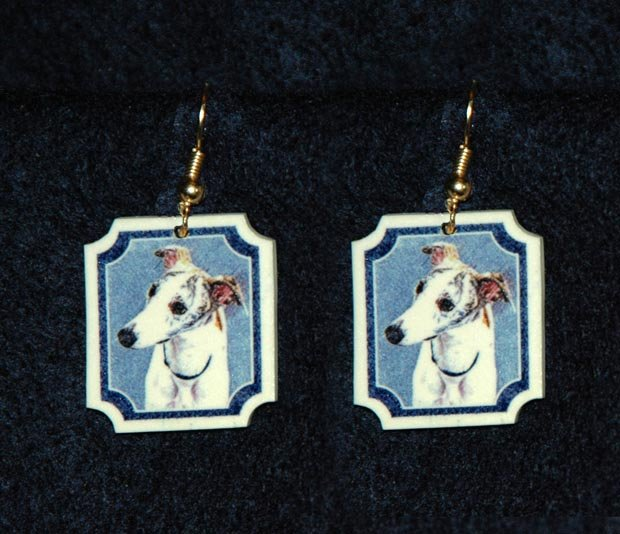 Whippet Jewelry Earrings Handmade